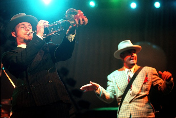 Big Bad Voodoo Daddy will bring its brand of neo-swing to Craig Regional Park in Fullerton on June 29. (File photo by Kelly A. Swift, contributing photographer)