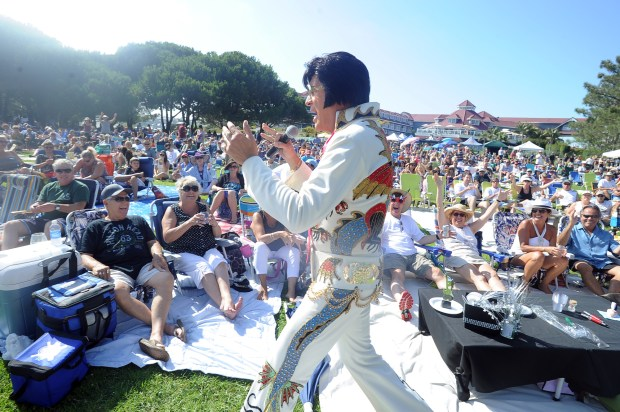 Raymond Michael will perform his Elvis Presley tribute at a July 8 Concert on the Green at Cypress Civic Center. (File photo by Kent Treptow, contributing photographer)