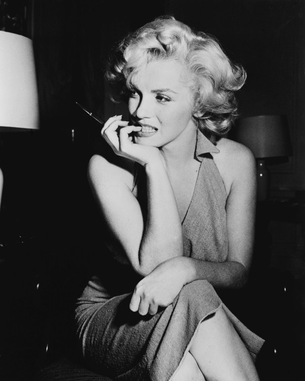 American film star Marilyn Monroe (Norma Jean Mortenson or Norma Jean Baker, 1926 - 1962). Original Publication: People Disc - HW0704 (Photo by Keystone Features/Getty Images)