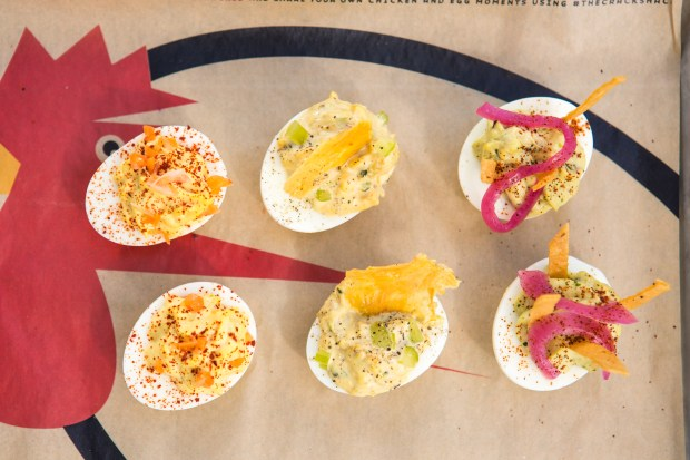 The Crack Shack's menu focuses on chicken and eggs. The deviled eggs are a popular side dish. (Courtesy Crack Shack)