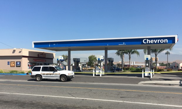 A shooting left a man dead at Jurupa Road and Van Buren Boulevard in Jurupa Valley on Tuesday, May 2. Ali Tadayon, Staff