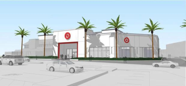 In August, Target announced that Irvine would be the home of its first flexible-format store in Orange County. The store, in a 20,000-square-foot space formerly home to a 24 Hour Fitness, will open in July. (Image courtesy of Target)