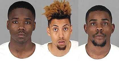 Darrell Daniels, Tywane Shelmon and Christopher Wheeler were arrested in connection with multiple Temecula burglaries early Saturday, May 13, 2017.