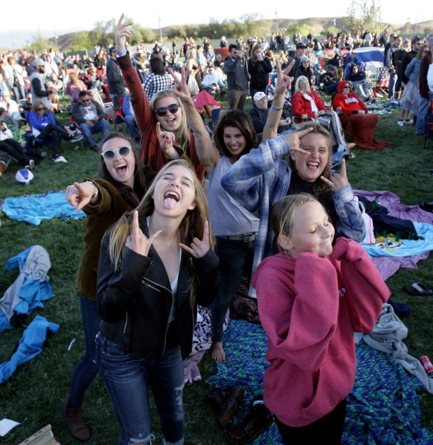 Fans cheer for Neon Trees during the 2016 Temecula Valley Balloon and Wine Festival at Lake Skinner. (SCNG file photo)