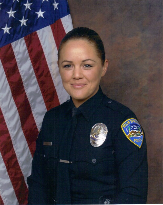 Palm Springs police Officer Lesley Zerebny. (Photo courtesy of Palm Springs Police Department)
