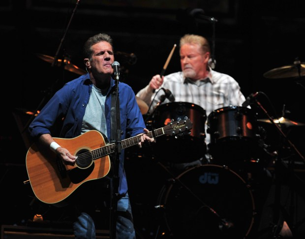 Deacon Frey, son of the Ealges vocalist Glenn Frey (pictured left), and country singer-songwriter Vince Gill will split vocal duties during the band's sets at The Classic shows in July. (Photo by Kelly A. Swift, contributing photographer)