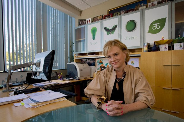 A Texas couple is suing Irvine-based Arbonne, accusing the health and beauty product marketer of being a pyramid scheme in a complaint filed Thursday, May 25 in Orange County Superior Court. Seen here is Kay Napier, CEO of Arbonne International, at her Irvine Office. (JOSHUA SUDOCK, ORANGE COUNTY REGISTE)