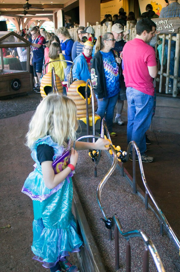One of the small attractions to entertain the younger and older set while waiting in line to ride on The Many Adventures of Winnie the Pooh attraction in Fantasyland at the Magic Kingdom of the Walt Disney World Resort. (Photo by Mark Eades, Orange County Register/SCNG)