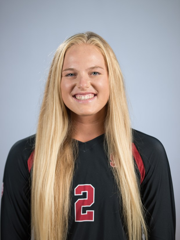 Stanford freshman Kathryn Plummer of Aliso Viejo was a standout for the Cardinal on both the indoor and beach volleyball teams. (Photo courtesy of David Bernal/isiphoto.com)