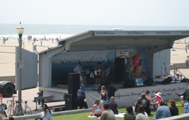 Hundreds attend concerts held on the north side of Huntington Beach Pier for the Surfin' Sundays Concert Series. (File photo by Laylan Connelly, Staff/SCNG)