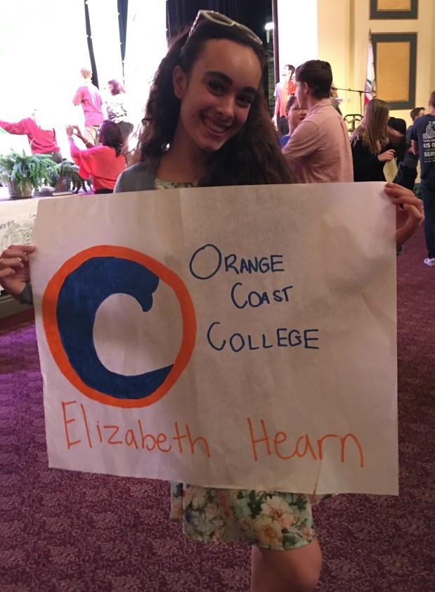 Elizabeth Hearm, Huntington BeachOrange Coast College: dance (Photo courtesy of Elizabeth Hearm)