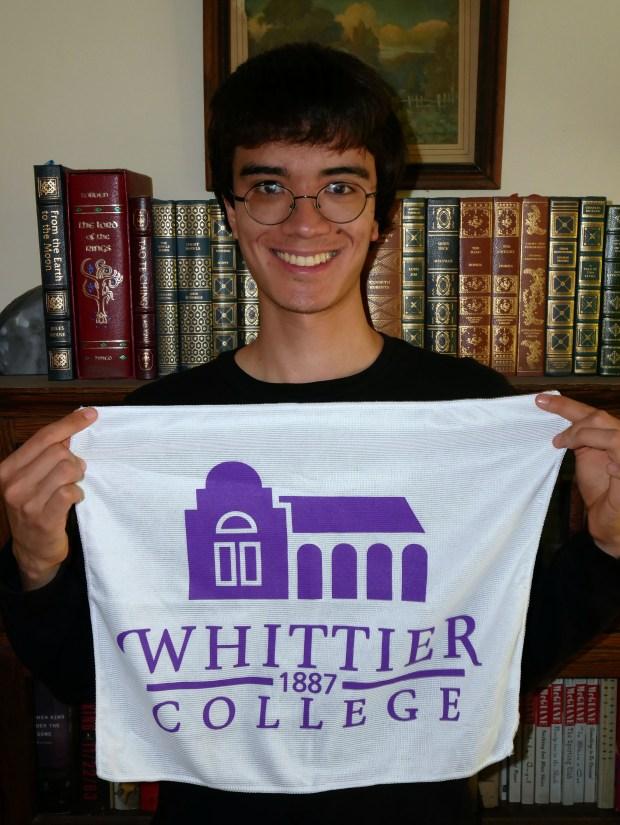 Emerson Little, Troy – Whittier College: art (studio art) major; film studies, minor (Photo courtesy of Emerson Little)