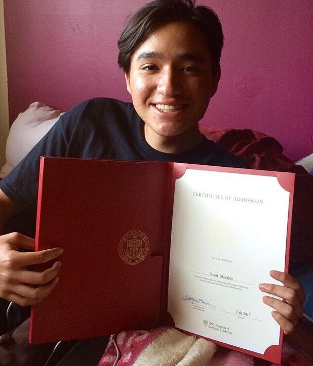Oscar Morales, Buena ParkUSC: art (design), undeclared major; business, undeclared minor (Photo courtesy of Oscar Morales)
