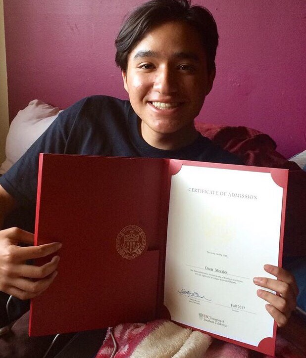 Oscar Morales, Buena ParkUSC: art (design), undeclared major; business, undeclared minor (Photo courtesy of Oscar Morales)