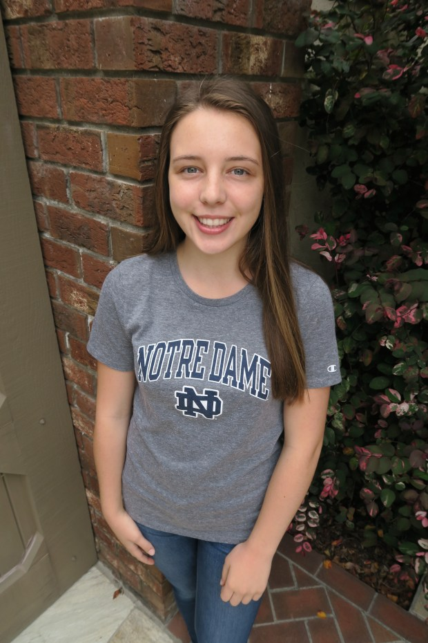 Julia Shard, Corona del MarUniversity of Notre Dame: engineering, undeclared major (Photo courtesy of Julia Shard)