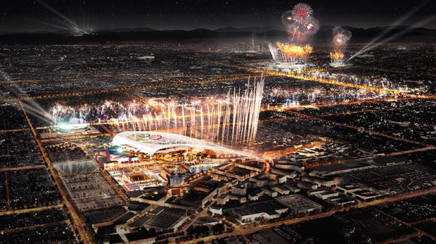 The Olympics are expected to return to Los Angeles in 2028. (Artist's rendering courtesy of LA 2024)