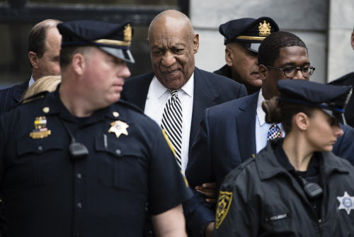 FILE - In this April 3, 2017 file photo, entertainer Bill Cosby leaves after a pretrial hearing in his sexual assault case at the Montgomery County Courthouse in Norristown, Pa. Bill Cosby doesn't plan to testify when he goes on trial Monday June 5, 2017 on sexual assault charges, but the rambling, disturbing testimony he gave a decade ago in the accuser's civil suit could prove just as crucial. (AP Photo/Matt Rourke) ORG XMIT: NYJK601