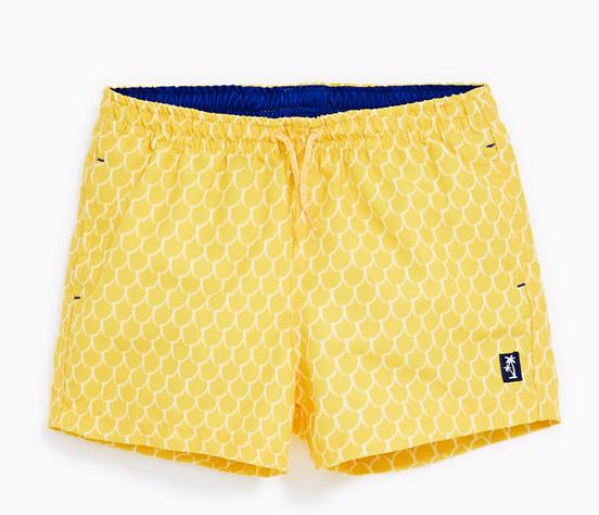 Bright yellow swim trunks, Zara Kids, $19.90. (handout photo)