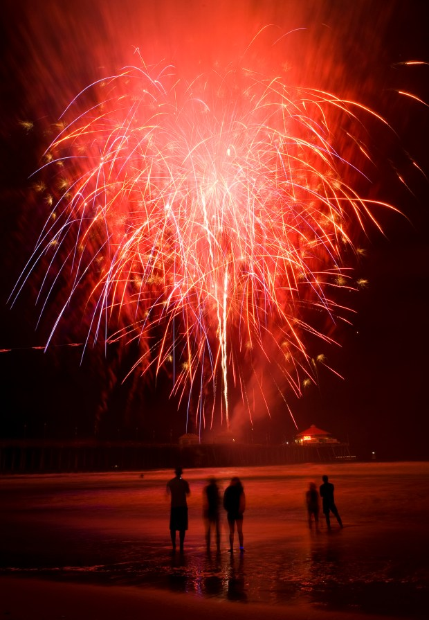 Fourth of July in Huntington Beach means a fireworks spectacular. (File photo by Kevin Sullivan, Orange County Register/SCNG)