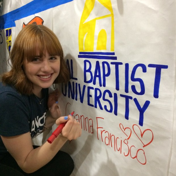Gianna Francisco, Huntington BeachCalifornia Baptist University: liberal studies (Photo courtesy of Gianna Francisco)