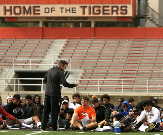 Riverside City College coach Jim McCarron led the Tigers to a state title in cross country and a third-place finish in track and field.