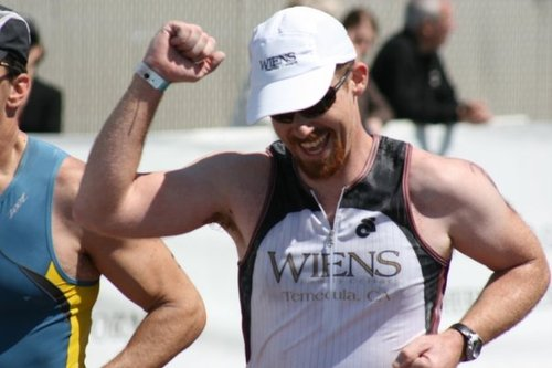 In addition to brewing, Peter Wiens competes in triathlons. (Twitter photo)
