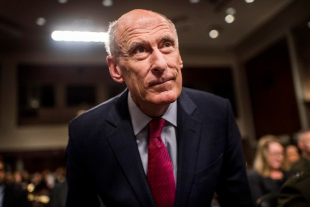 Director of National Intelligence Daniel Coats testifies before the Senate Armed Services Committee on Capitol Hill in Washington, D.C., on Tuesday. MUST CREDIT: Washington Post photo by Melina Mara