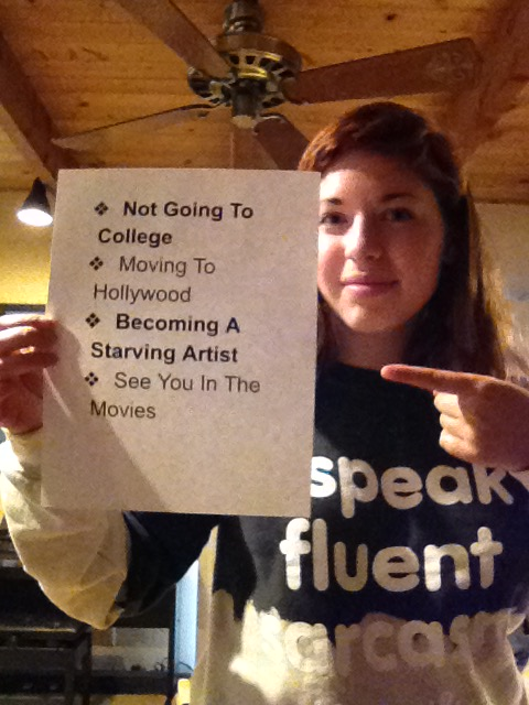 Vivian Gould, Laguna BeachOff to work in Hollywood (Photo courtesy of Vivian Gould)