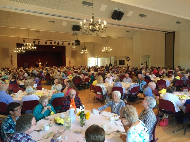 More than 250 residents 90 years and older father at the annual 90s Luncheon at Laguna Woods Village Clubhouse Five on Friday, June 30.(Photo by Emily Rasmussen, contributing photographer)