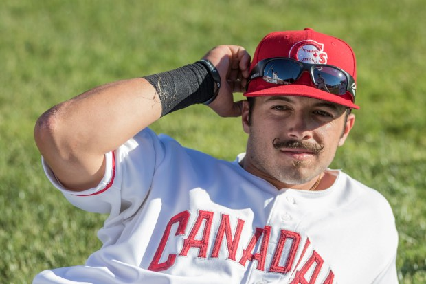 Fountain Valley's Brock Lundquist, who recently joined the Vancouver Canadians, and his best friend and former childhood teammate Dillon Persinger, are pursuing shared dreams of professional baseball. Photo by Mark Steffans, Courtesy Vancouver Canadians