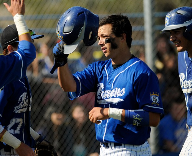 Fountain Valley's Brock Lundquist, who helped lead the Barons to consecutive Sunset League titles before attending Long Beach State, was drafted into pro baseball recently along with best friend and FVHS and PONY teammate Dillon Persinger. Photo by Mike Fernandez, For the Register