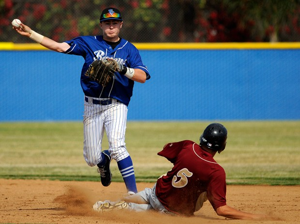 Fountain Valley's Dillon Persinger, who starred at Fountain Valley High before playing in college, was recently drafted by the Cleveland Indians. He joins Brock Lundquist, a teammate from PONY through high school, as a pro ballplayer. Photo by Mike Fernandez, For the Register