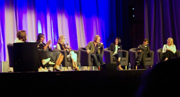 "The ladies of the ""Inspiring Women of Walt Disney Imagineering"" talk about how they got into Walt Disney Imagineering and other inspiring stories during a panel at the D23 Expo in Anaheim. (Photo by Mark Eades, Orange County Register/SCNG)"
