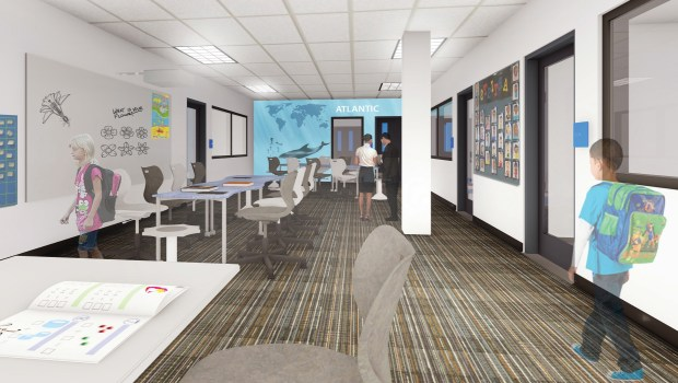Renovations are underway at College Park Elementary in Irvine with the $319 million Measure E bond money. (Courtesy of Irvine Unified School District)