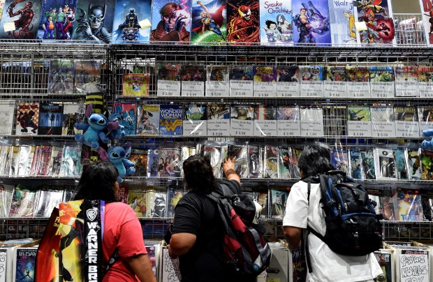 Day two of Comic-Con International in San Diego, CA., Friday, July 21, 2017. (Staff photo by Jennifer Cappuccio Maher/Southern California News Group)
