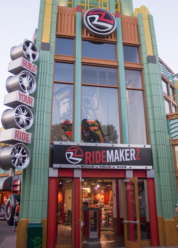 Ridemakerz, a shop that offers kids of all ages the chance to build their own remote controlled car, along with other racing themed merchandise at Downtown Disney, will be closing by the end of September to make room for additional dining facilities at the Disneyland Resort. (File photo by Mark Eades, Orange County Register/SCNG)