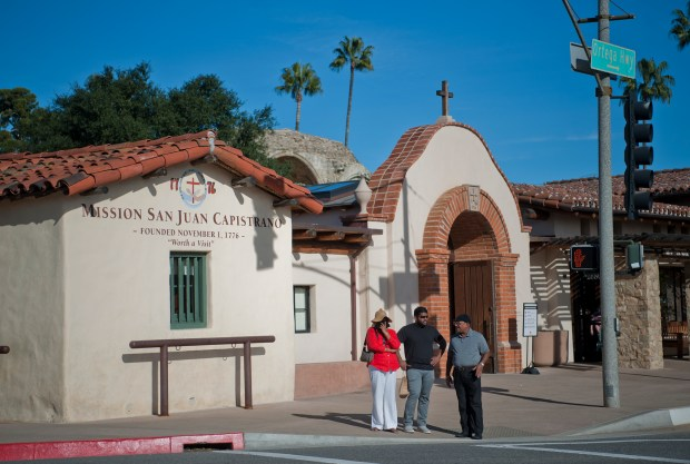 Mission San Juan Capistrano, founded on Nov. 1 1776, is a short walk from the train depot and is popular destination for tourists and local fourth graders. (File photo: Jeff Antenore, Contributing Photographer)