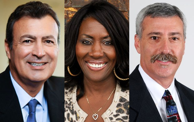 The newest members of the Cal State Fullerton Philanthropic Foundation board of governors are, from left, Joe Cervantes, Martha Daniel and Gary Green. (Photos courtesy of Cal State Fullerton)