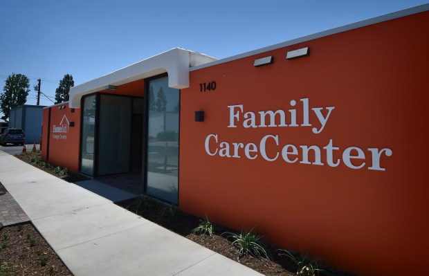 The new HomeAid Family CareCenter that in Orange will be about to house 10-15 families per day. (Photo by Steven Georges, Contributing Photographer)