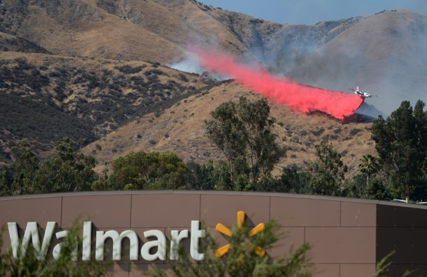 Firefighters battle the Hidden Fire on Wednesday, July 12, 2017 northwest of the 330 freeway in Highland, Ca. (Micah Escamilla, The Sun/SCNG)