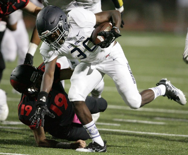 Vista Murrieta's Elisha Guidry is one of the area's best defensive backs. (Photo by Frank Bellino,The Press-Enterprise, SCNG)