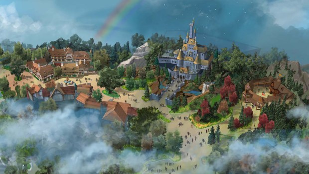 "Concept art for the exterior of the ""Beauty and the Beast"" attraction planned for Tokyo Disneyland. (Photo Courtesy, The Walt Disney Company)"
