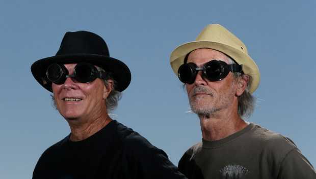 Pat Hays, 62, and Vince Fay, 62, bought welding goggles for their road trip to Idaho to see the solar eclipse in Murrieta Friday, August 4, 2017. FRANK BELLINO, THE PRESS-ENTERPRISE/SCNG
