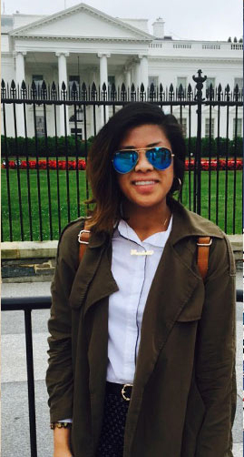 Paulette Maskarino, political science major, worked in the Ombudsman Office of the U.S. Department of Labor this summer as part of Cal State Fullerton's DC Scholars program. (Photo courtesy of Cal State Fullerton)