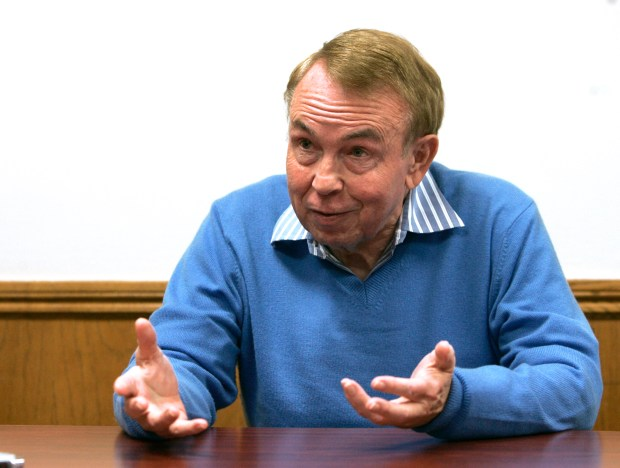 Ross Johnson, head of the state's Fair Political Practices Commission, gestures during an interview at his office in Sacramento, on March 27, 2008. Johnson, a Republican who served 26 years in the state legislature, drew mostly praise from political reformers for his performance as the commission's chairman. (AP Photo/Rich Pedroncelli)