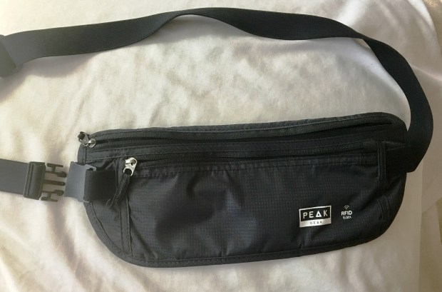 This Peak money belt has an extremely sturdy clasp and RFID blocking pockets, which keep identity thieves from scanning your information from your credit cards and passport. It served me well in Costa Rica and Cuba. It cost around $20 on Amazon.com. There were less expensive ones for sale, but this is not an item to buy cheap. Credit: Marla Jo Fisher, the Orange County Register.