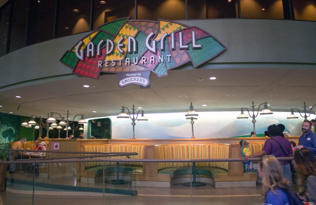 The Garden Grill Restaurant is located inside The Land Pavilion in the Future World area of Epcot at the Walt Disney World Resort in Florida. The restaurant rotates around through a futuristic greenhouse, where some of the vegetables it serves are grown. (Photo by Mark Eades, Orange County Register/SCNG)