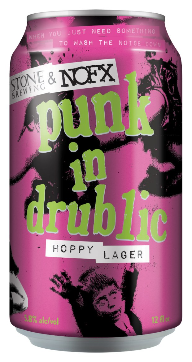 Punk rock band NOFX collaborated with Stone Brewing Co. to create the Punk in Drublic Hoppy Lager which will be available at festival stops during the band's Punk in Drublic Craft Beer & Music Festival and the Punk 'N Brew Craft Beer & Music Festival stop on Saturday, Oct. 28 at the SeaLegs Live Festival Grounds at Bolsa Chica State Beach in Huntington Beach. (Photo courtesy of Stone Brewing)