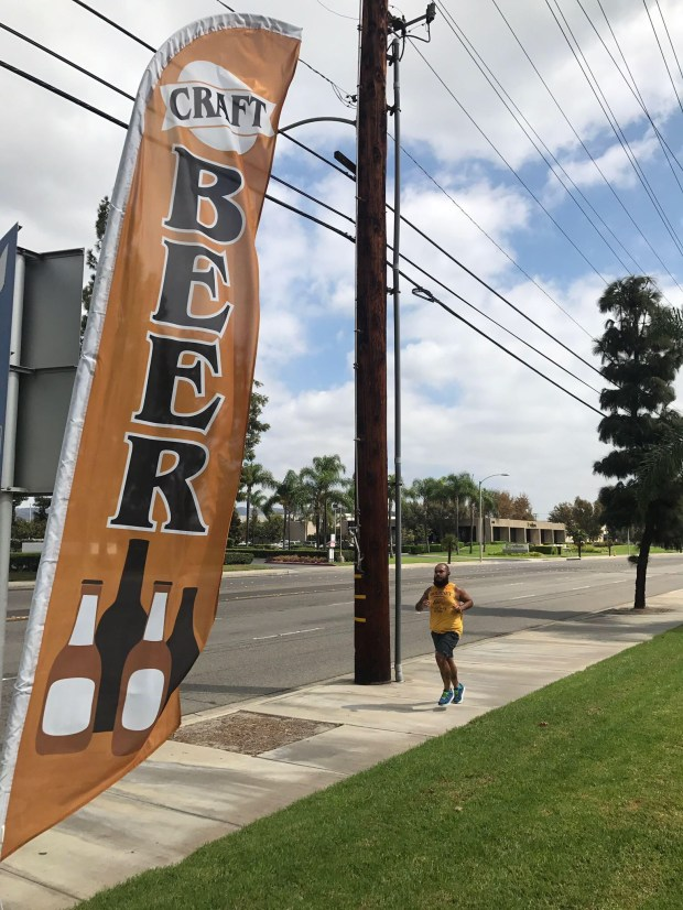 The OC Craft Runners meet every Monday evening at various breweries throughout Orange County to run a few miles before having beers at the local brewery.