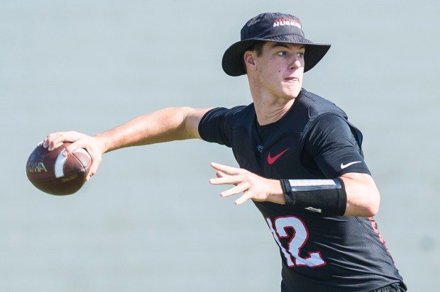 Centennial quarterback Tanner McKee holds the keys to the area's most prolific offense. (Photo by Matt Masin, Orange County Register, SCNG)